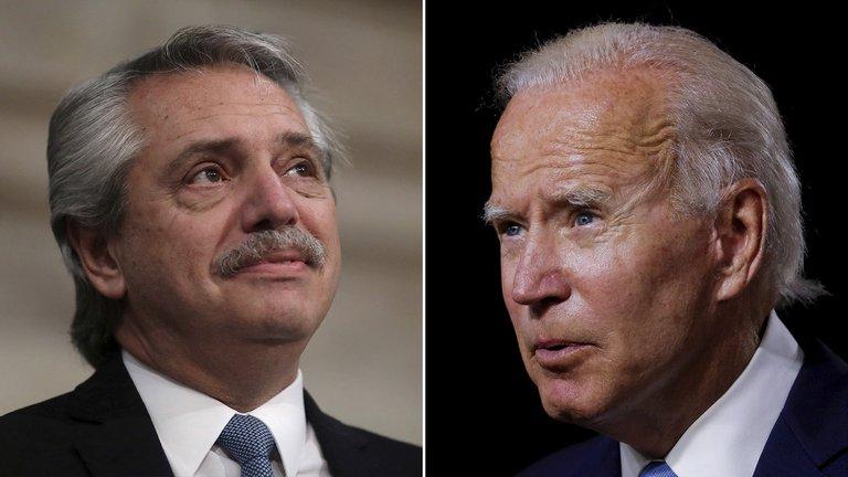 """El presidente felicitó a Joe Biden tras asumir como presidente de EE.UU y pidió """"que no se apueste a la desunión como en la etapa anterior"""""""