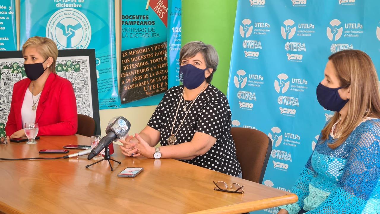 """Suspensión de la presencialidad: """"Creo que en este contexto el gremio estuvo a la altura de las circunstancias y la definición concreta y política que el gobierno dio ayer es, sin ninguna duda, muy acertada"""", manifestó la secretaria general de UTELPa"""