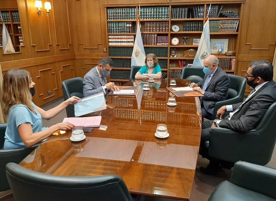 El Poder Judicial firmó un convenio con el Banco de La Pampa