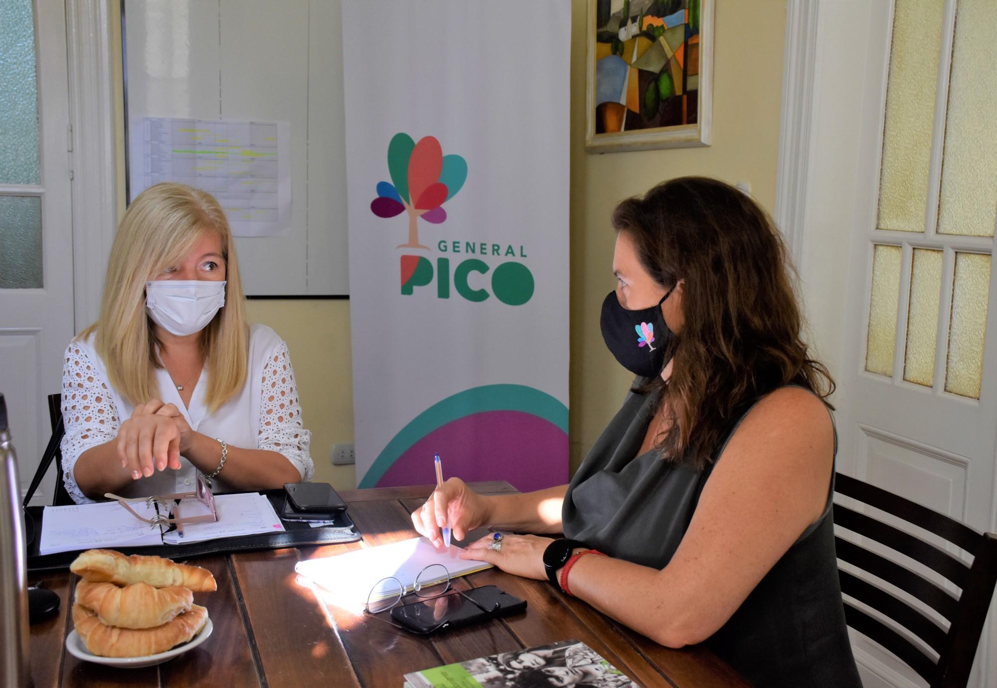 La intendenta Fernanda Alonso se reunió con la subsecretaria de Economía Social