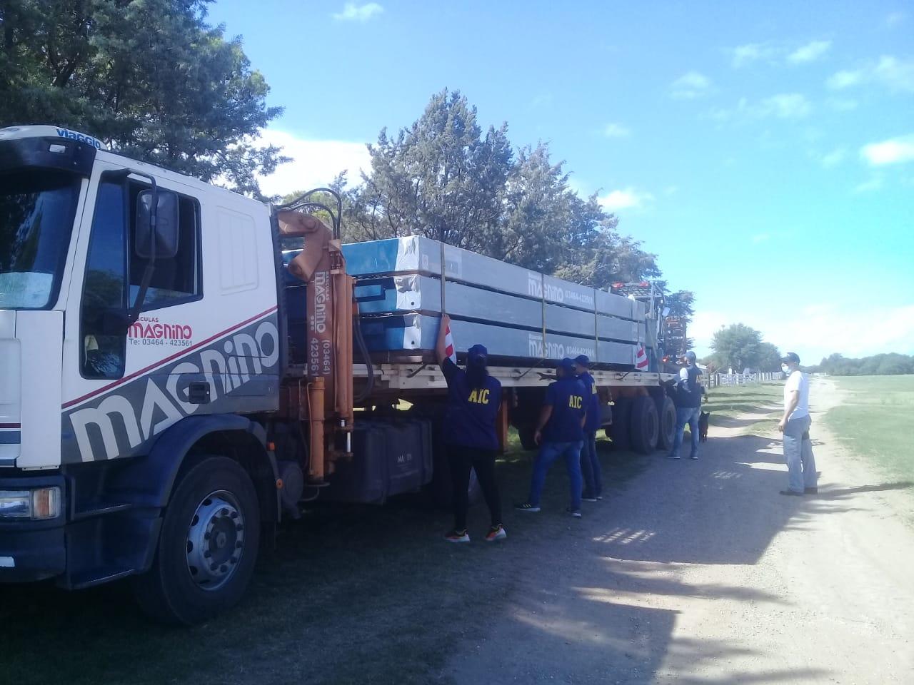 La Brigada de Investigaciones colaboró con la policía de Santa Fe para recuperar una báscula en un campo de Pichi Huinca