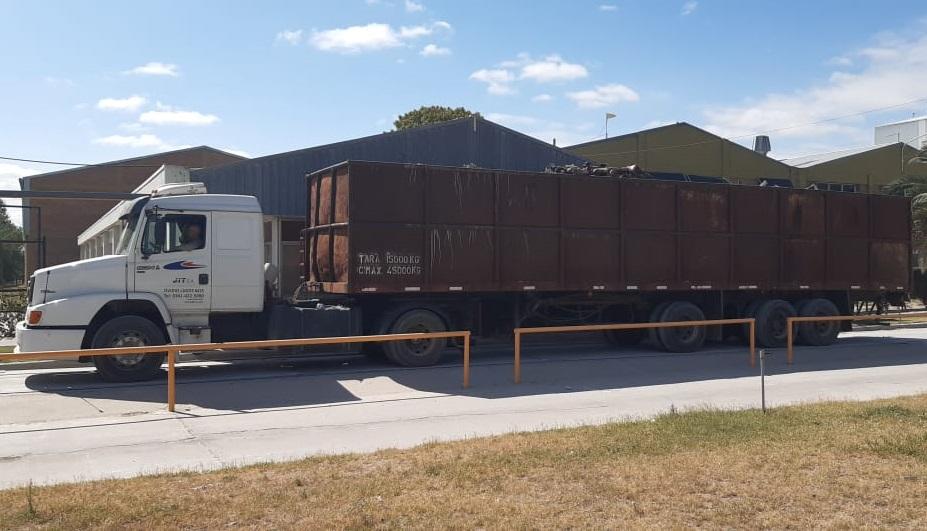 Se compactaron más de 42 toneladas de chatarra en General Acha