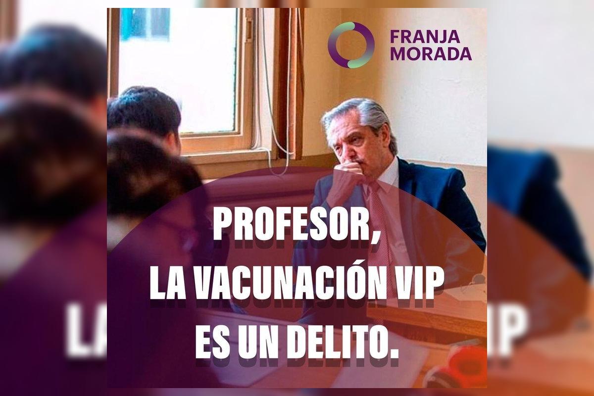 """Estudiantes de Derecho de la UBA desafiaron a Alberto Fernández a debatir: """"Profesor, la vacunación VIP es un delito"""""""