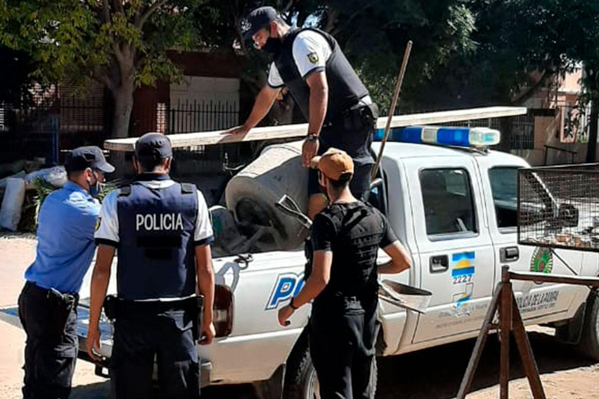 Tras dos allanamientos la policía recuperó muchas herramientas de albañilería robadas en Speluzzi