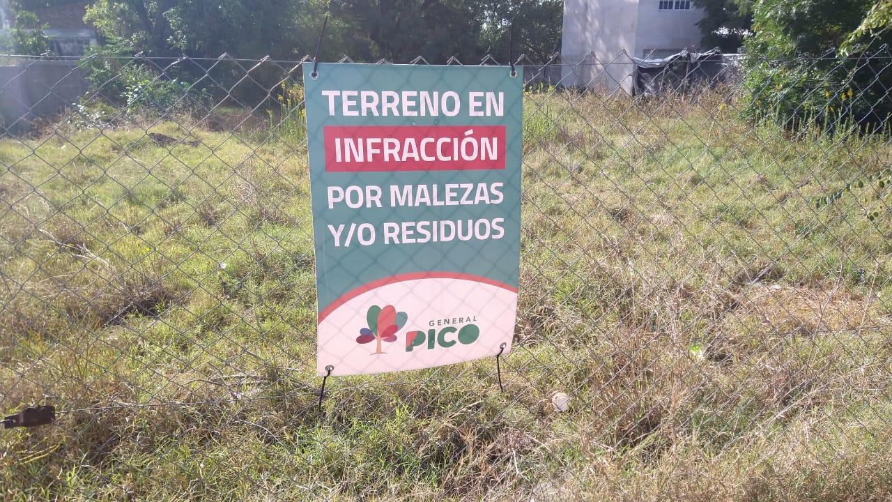 La Municipalidad de General Pico comenzó a infraccionar a dueños de terrenos por malezas y acumulación de residuos