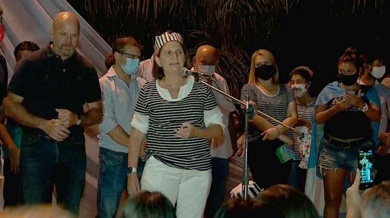 """Patricia Bullrich encabezó una protesta contra Gildo Insfrán vestida de presa: """"Formosa está gobernada por un tirano hace 25 años"""""""