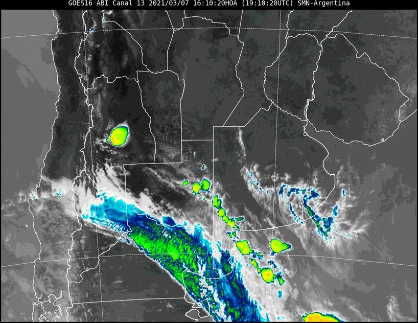 Aviso a corto plazo por tormentas fuertes con lluvias intensas para La Pampa