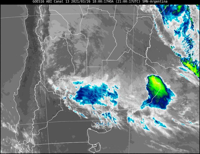 Nuevo aviso a muy corto plazo por lluvias intensas para el centro y sur de La Pampa