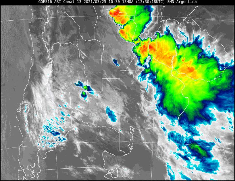 Gran parte de La Pampa en alerta por tormenta para esta noche con posible caída de granizo y actividad eléctrica