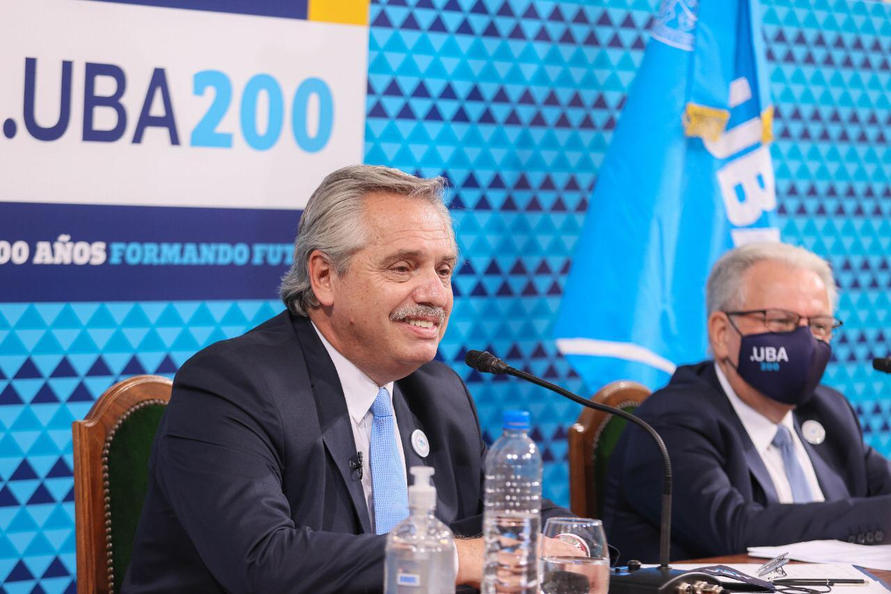 """Bicentenario de la Universidad de Buenos Aires: """"La UBA es igualdad"""", dijo el Presidente"""