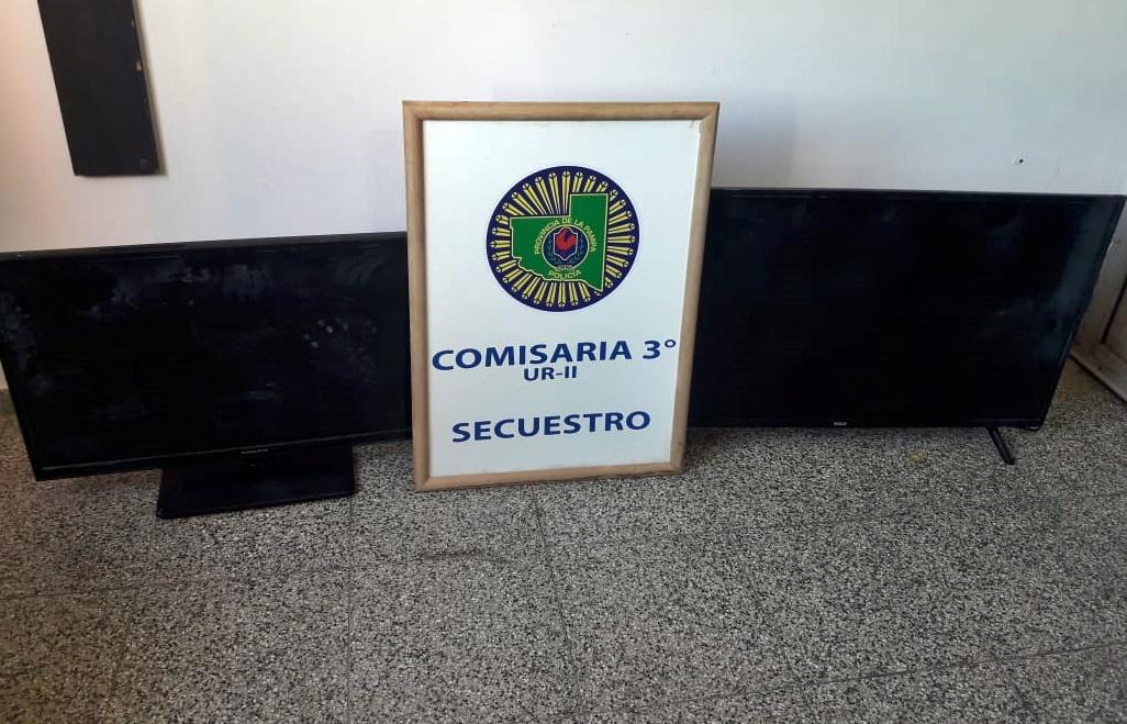 Encontraron dos televisores robados en el techo de la Escuela N° 64 de Barrio Malvinas