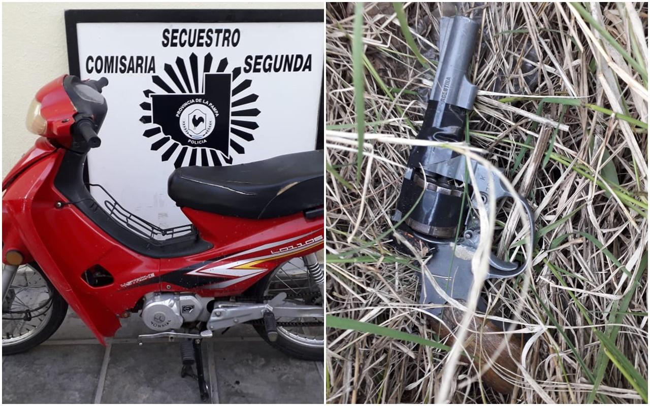 Tres jóvenes de 14, 16 y 19 años robaron una moto y  tiraron un arma de fuego antes de ser demoradas por la policía