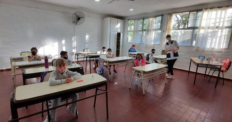 El 48% de los alumnos de la matrícula total de las escuelas de La Pampa ya tuvo clases presenciales