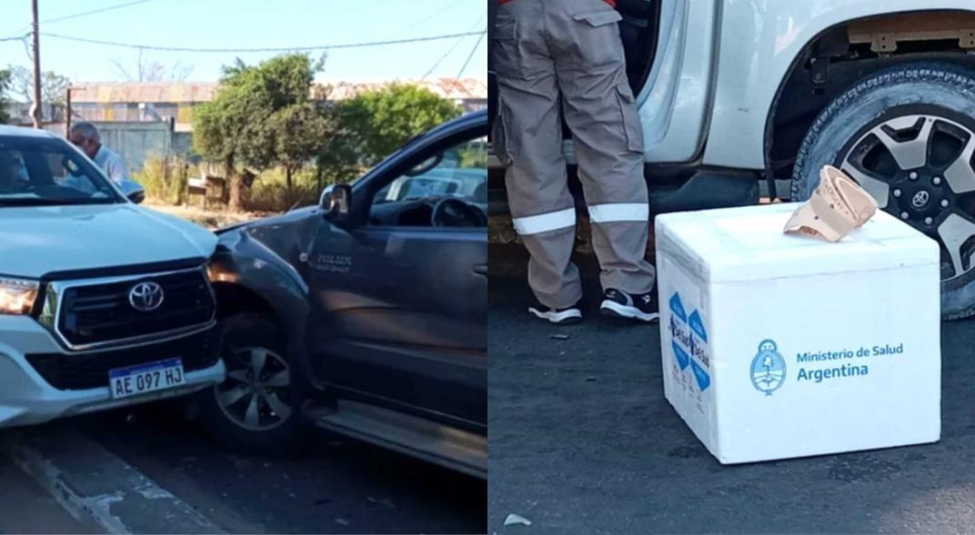 Escándalo en Corrientes: El ministro de Salud llevaba vacunas sin protocolo y chocó en su camioneta particular