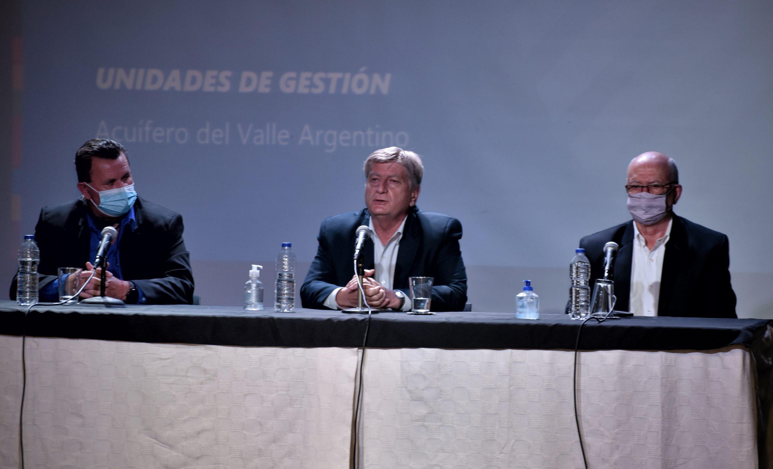 Sergio Ziliotto firmó un convenio de colaboración para la gestión del Acuífero del Valle Argentino