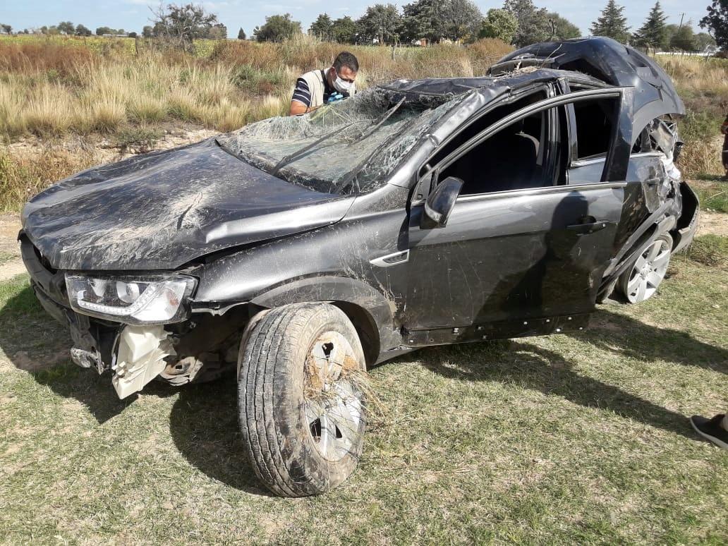 Un muerto tras un vuelco fatal a unos 1.000 metros de la entrada a la localidad de Winifreda