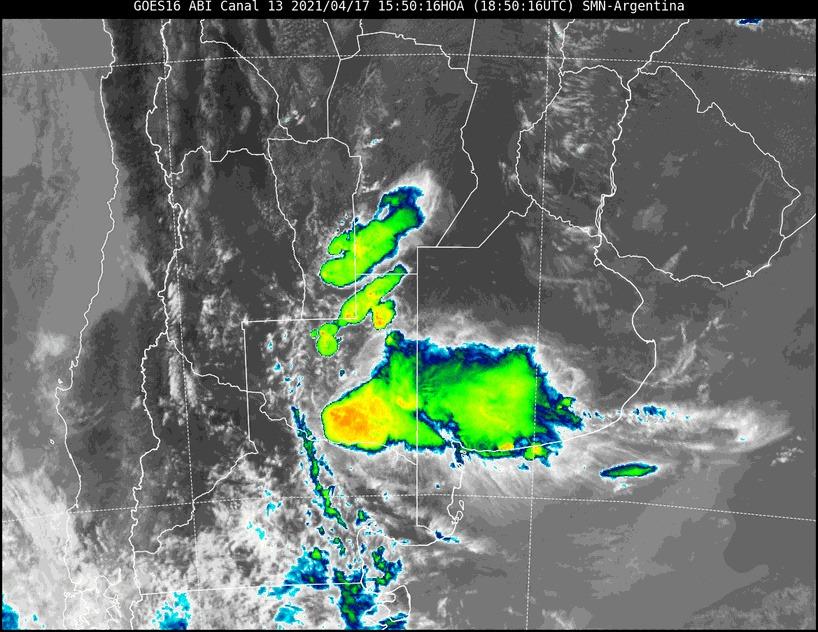 Aviso a corto plazo por tormentas fuertes con ráfagas y ocasional caída de granizo para Conhello, Parera, Realicó y Trenel