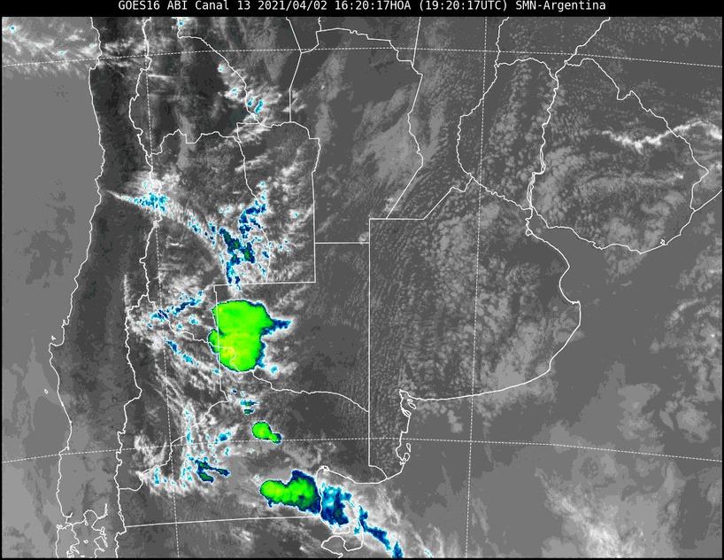 Avisos a corto plazo por tormentas fuertes con ráfagas y ocasional caída de granizo para el oeste de La Pampa