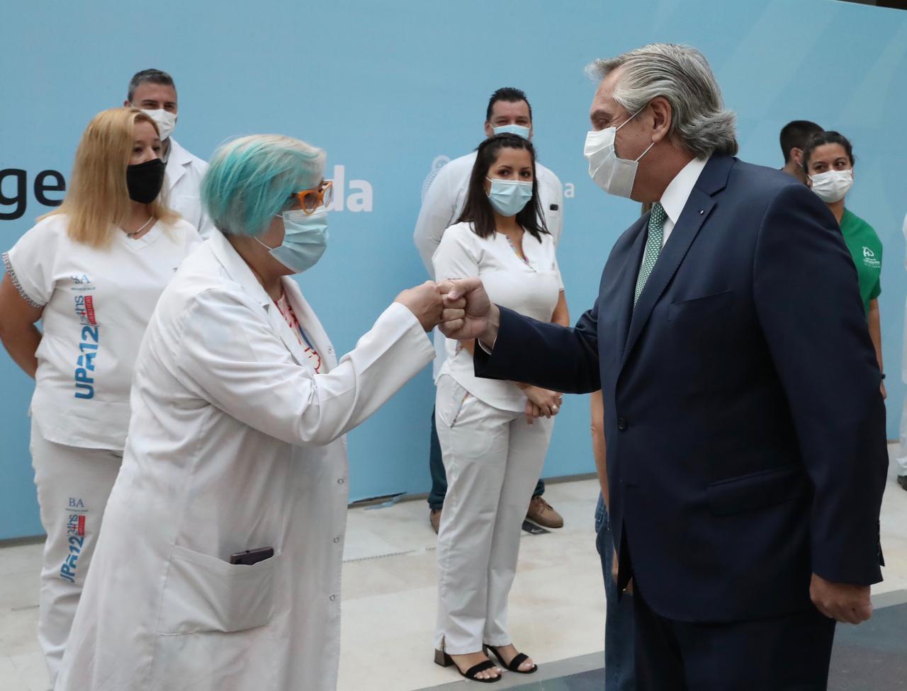 Alberto Fernández anunció un bono de $ 6.500 pesos extra por tres meses para los trabajadores de la Salud