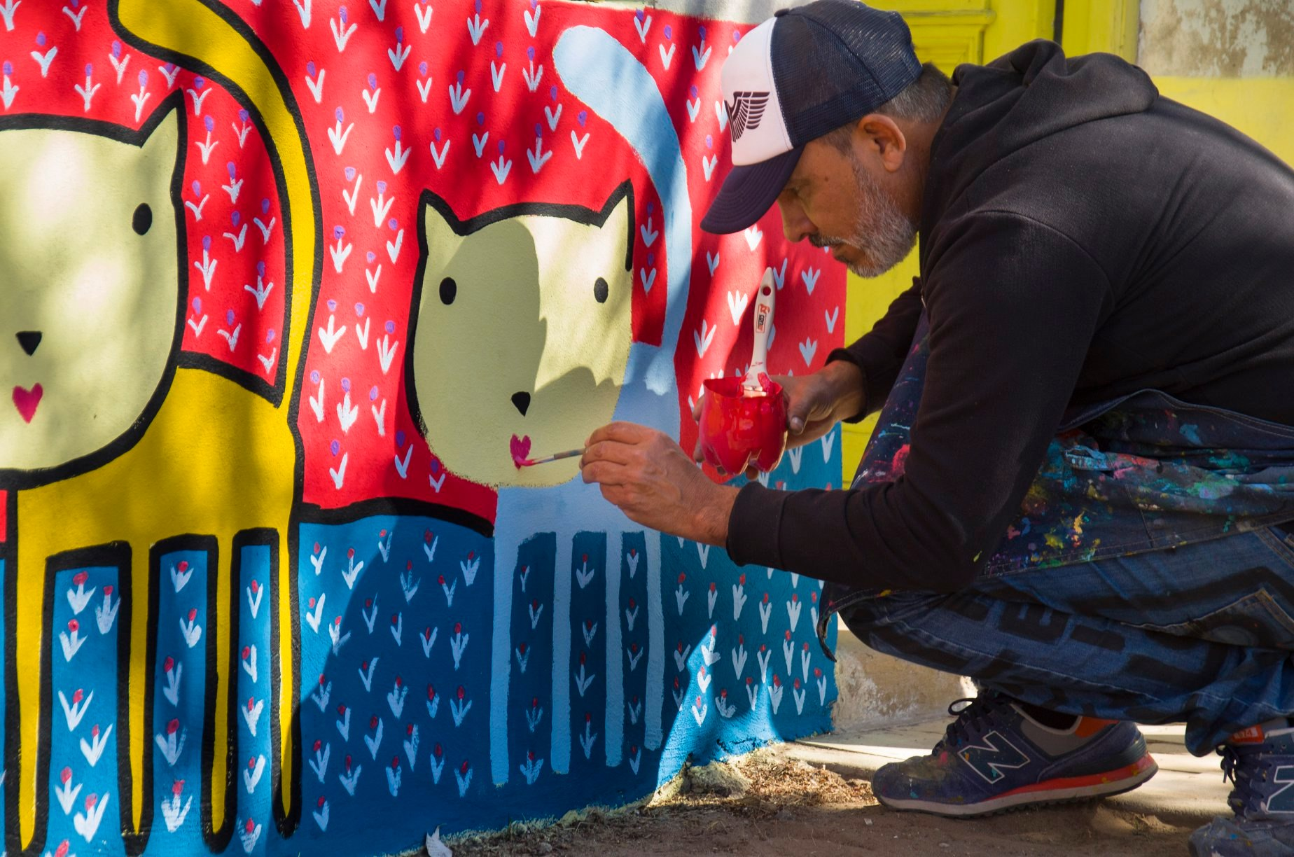 El artista plástico Mario Lange pintará la fachada del ex comedor municipal en General Pico