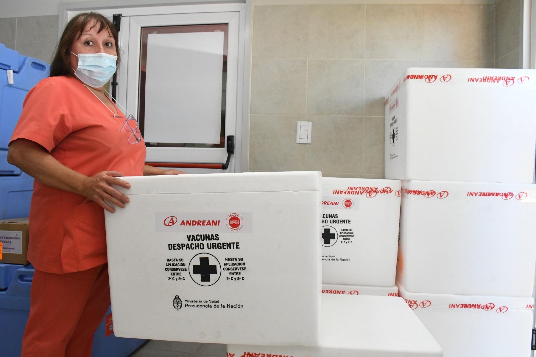Llegaron 7.200 dosis de vacunas SINOPHARM a La Pampa