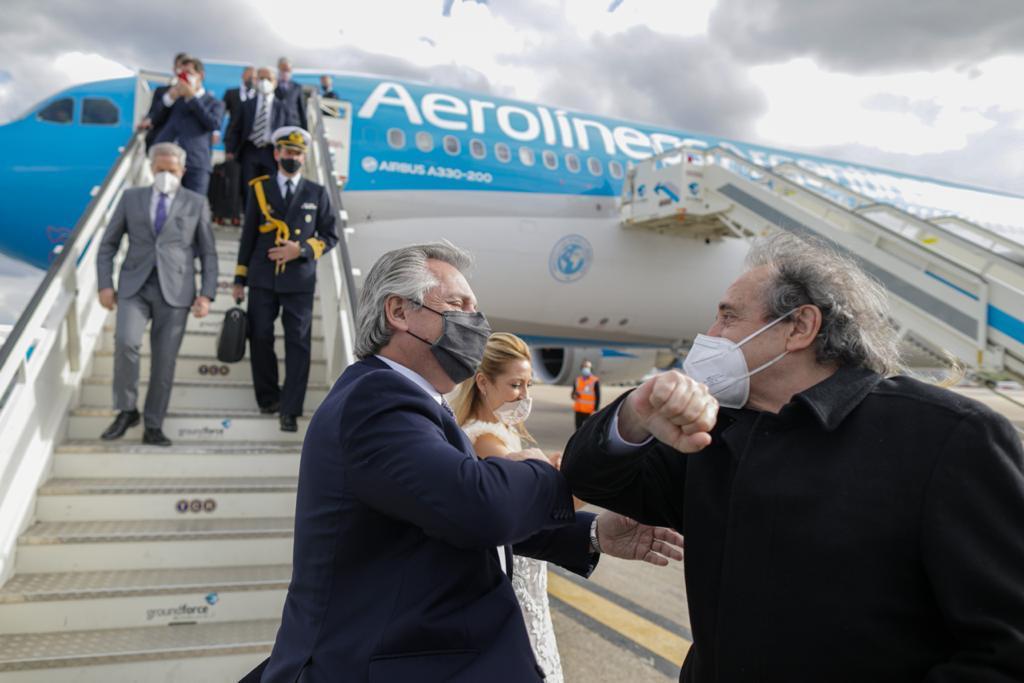 Alberto Fernández visitó Portugal y ya se encuentra en Madrid
