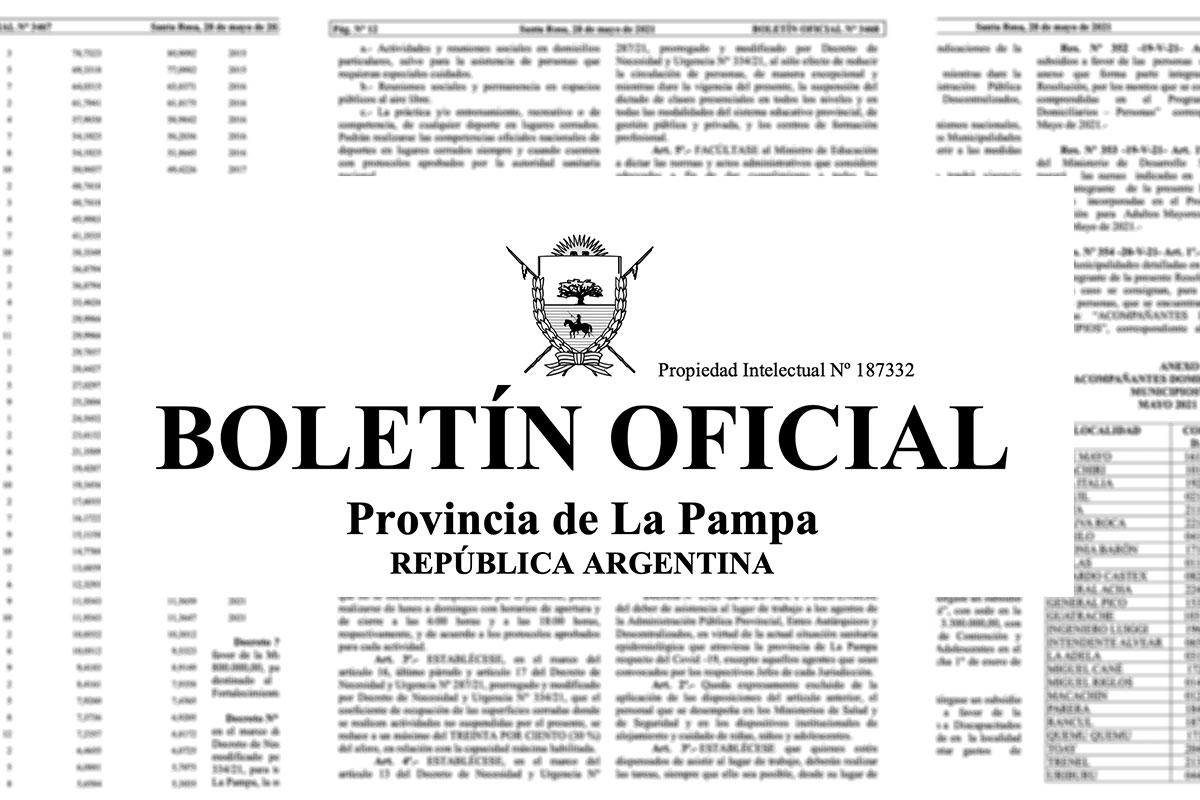 Mirá los detalles del decreto por las nuevas medidas por la pandemia que regirán desde el 31 de mayo en La Pampa