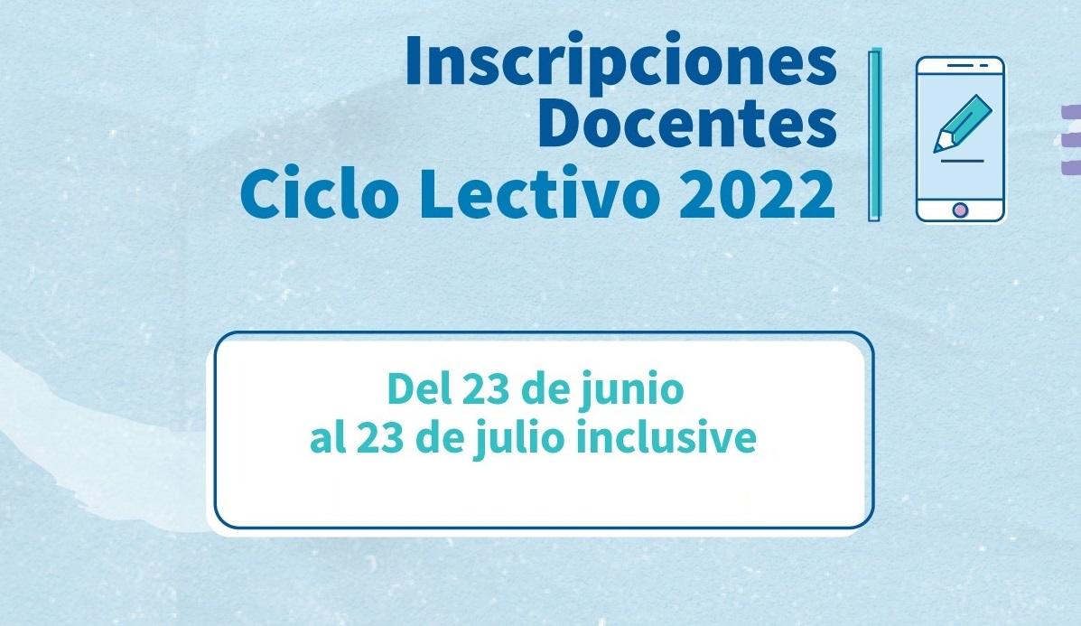 Educación: Abren convocatoria a docentes para el Ciclo Lectivo 2022