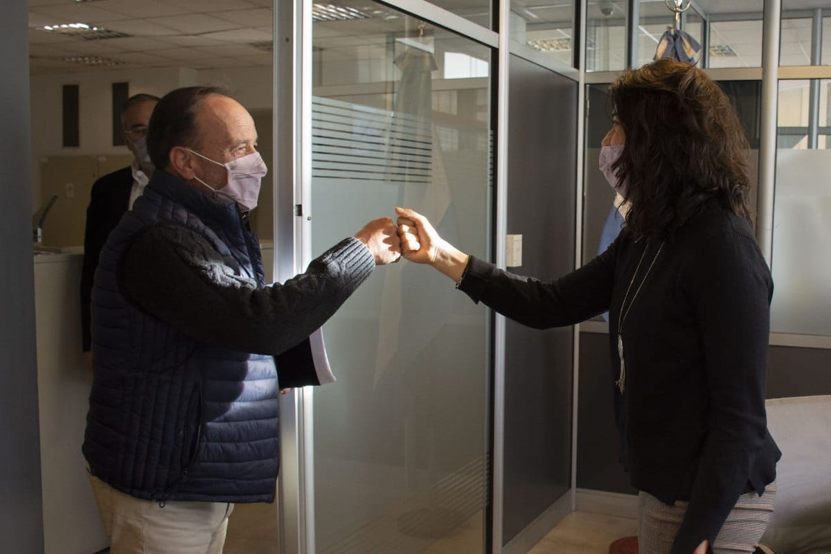 CAFFoS: Karina Mouzo se reunió con el Ministro de Seguridad de La Pampa, Horacio Di Nápoli
