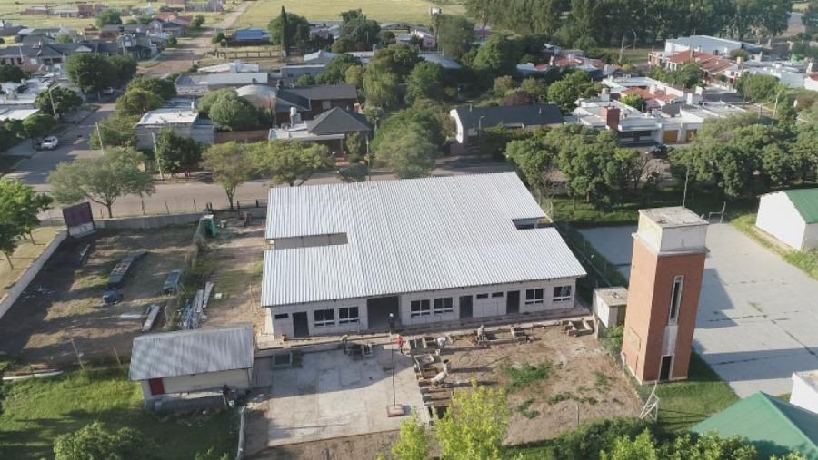 Avanzan las obras de terminación del JIN N° 25 de la Escuela N° 104 de Winifreda
