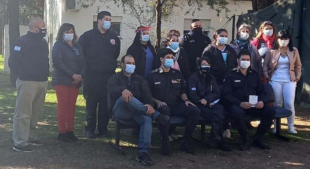 ¡GRANDES NOTICIAS!: Bomberos Voluntarios comenzaron a vacunarse contra el COVID-19 en General Pico