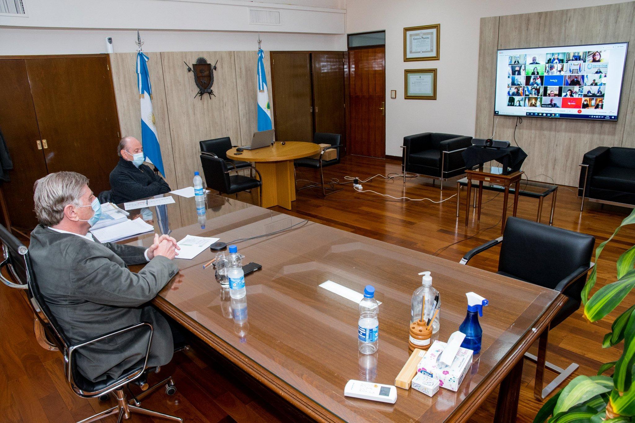 Ziliotto participó de la reunión que encabezaron 'Wado' de Pedro y Vizzotti con los gobernadores en donde se analizaron los avances del Plan de Vacunación