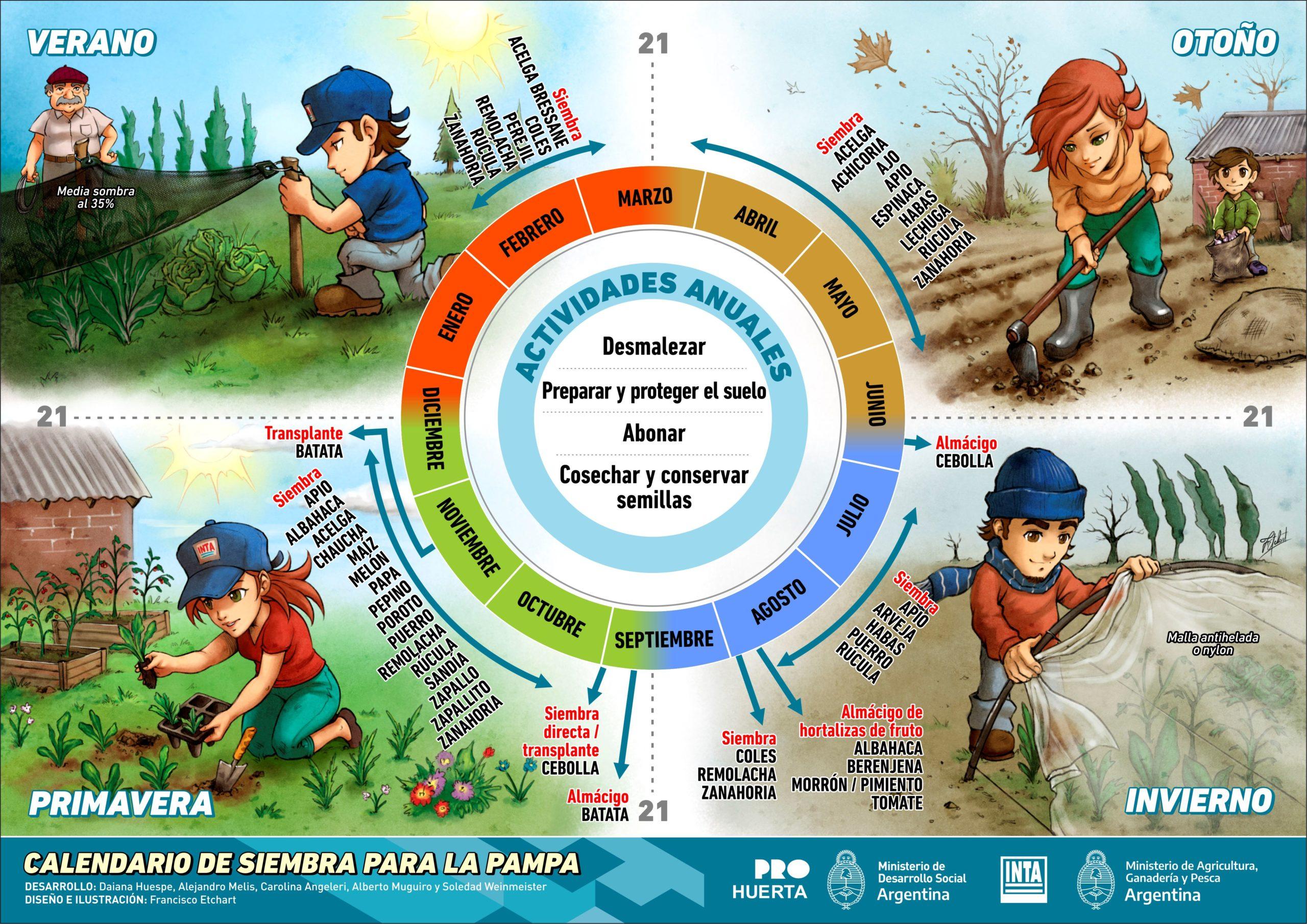 Guía de Siembra 2021: una herramienta para las huertas en La Pampa