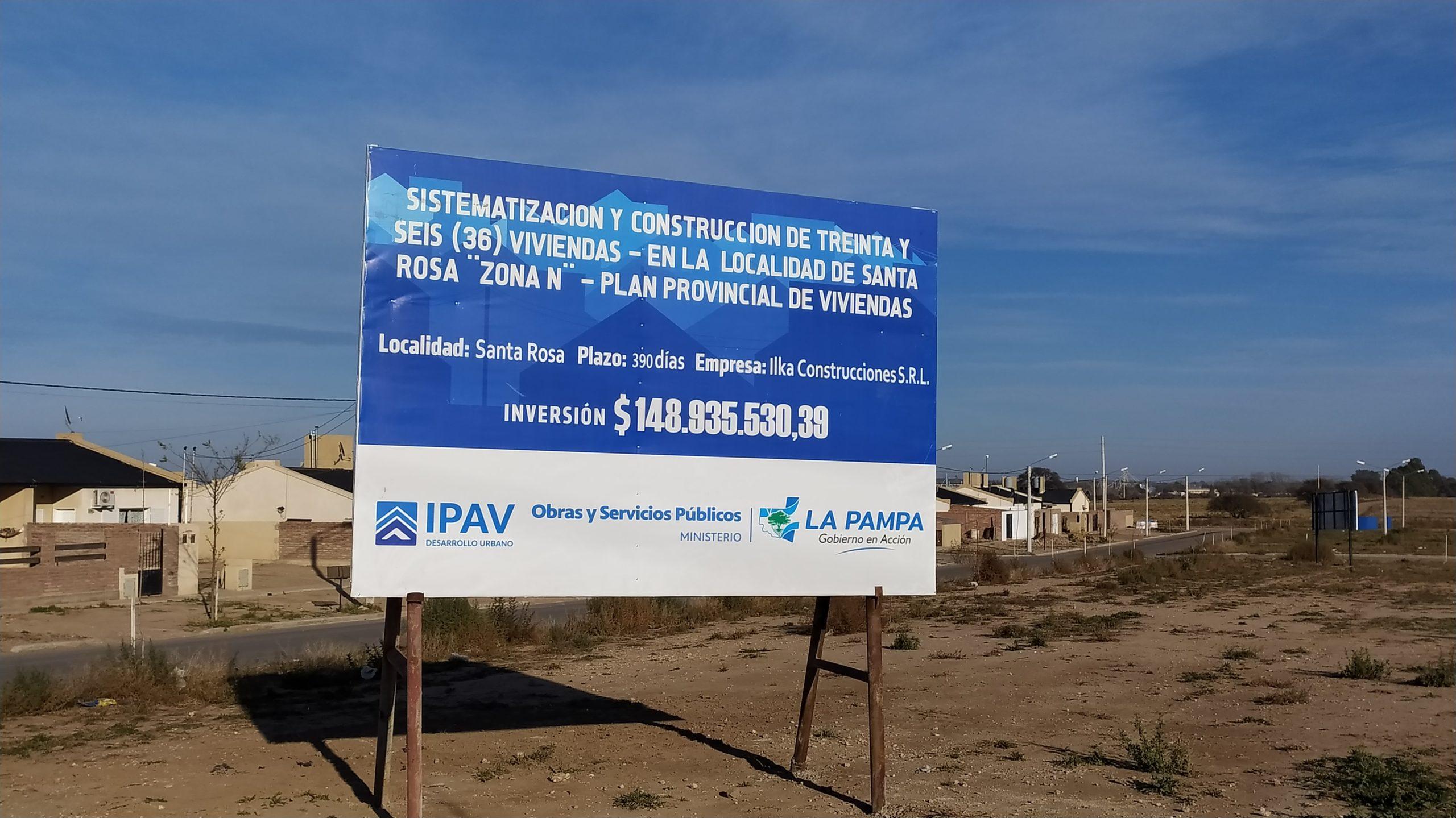 """Santa Rosa: están en marcha las 210 viviendas del Plan """"Mi Casa"""""""