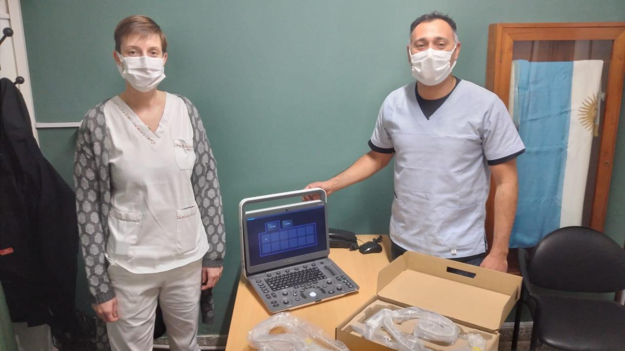 Incorporaron un ecógrafo de última tecnología en el Hospital de Eduardo Castex