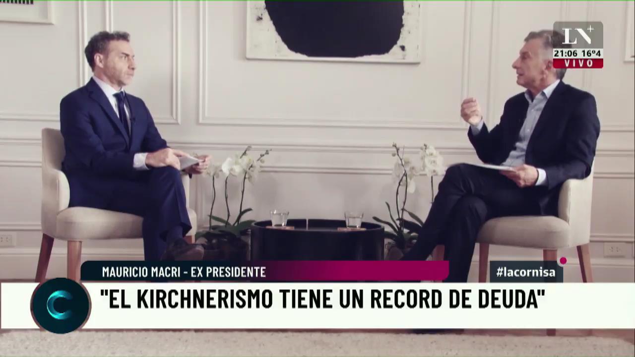 """Mauricio Macri dijo que Alberto Fernández emite más deuda que él: """"Este es el desastre que está haciendo el kirchnerismo en su nueva versión, récord de deuda en un sólo año"""""""